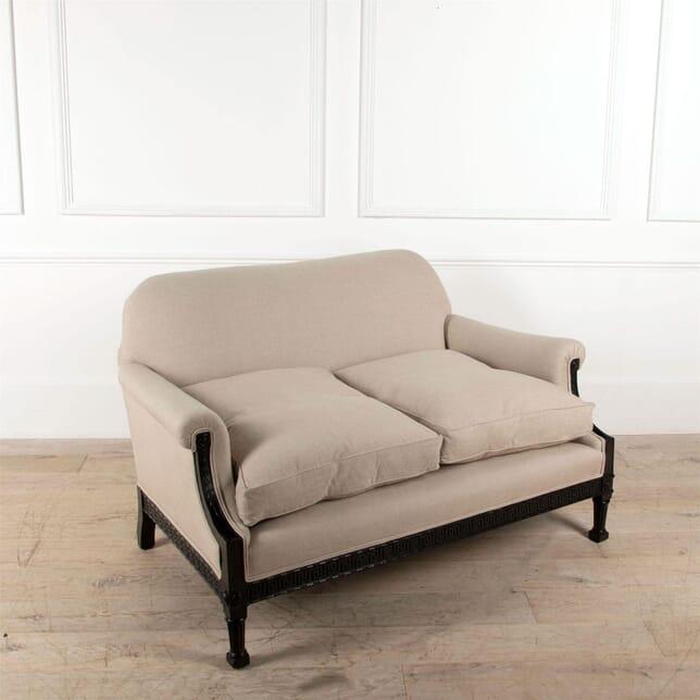 French Ebonised Sofa with Greek Key Pattern SB4861483