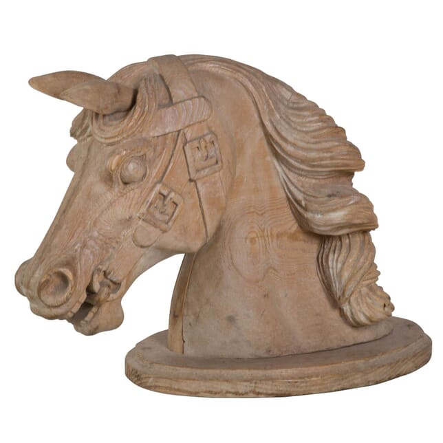 Large 19th Century Carved Horses Head DA037304