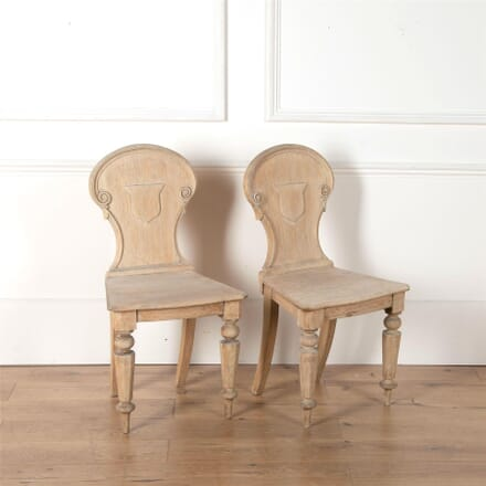 Pair of Oak Hall Chairs CH4362154