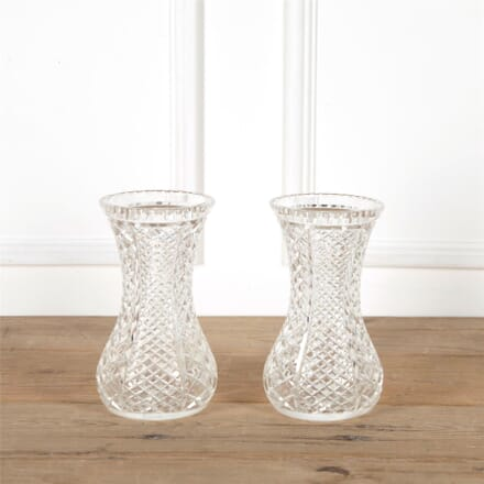 Pair Of English Cut Glass Victorian Vases DA287315