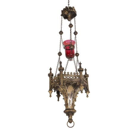 Gothic Brass Candle Light LC7260221