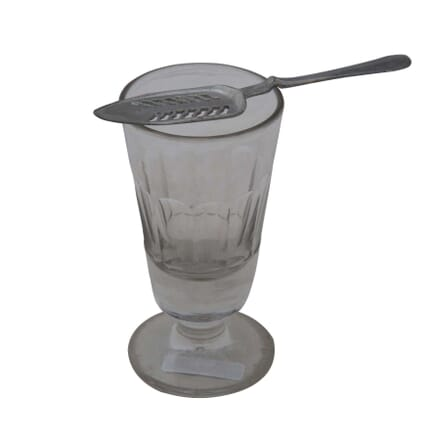 French Absinthe Glass and Spoon DA4454949