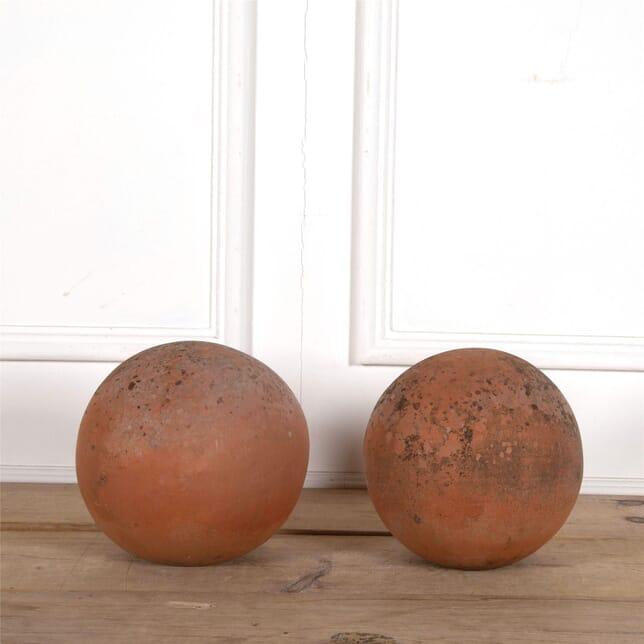 Pair of Terracotta Balls GA2062623