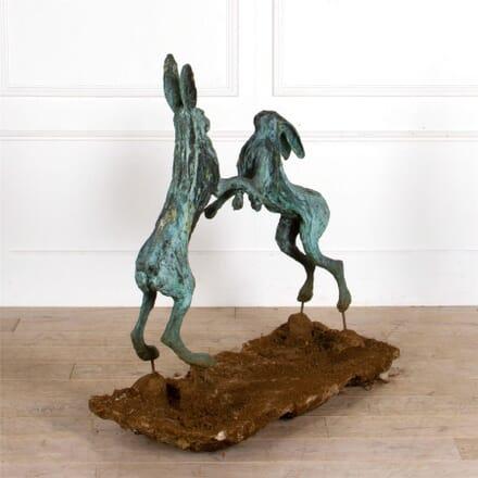 Sophie Ryder Bronze Boxing Hares DA287287
