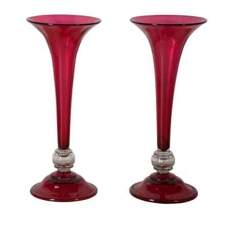 Pair of Large Trumpet Vases DA1559468