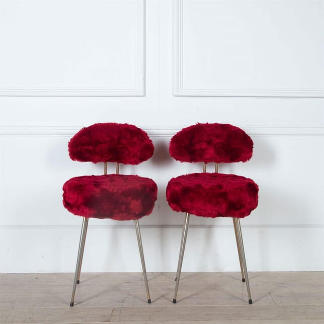 Vivid Red Furry Chairs CH3061111