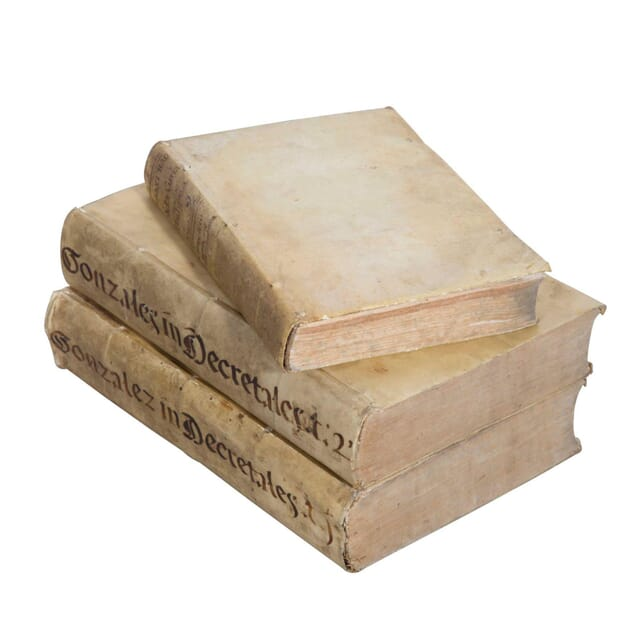 Three 18th Century Vellum Bound Books DA9058183