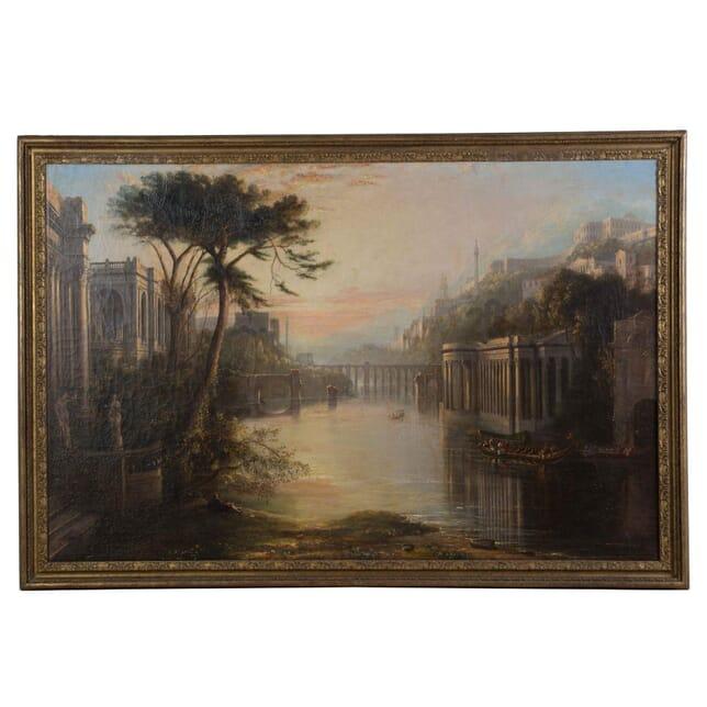 Italian Capriccio Oil Painting WD4154783