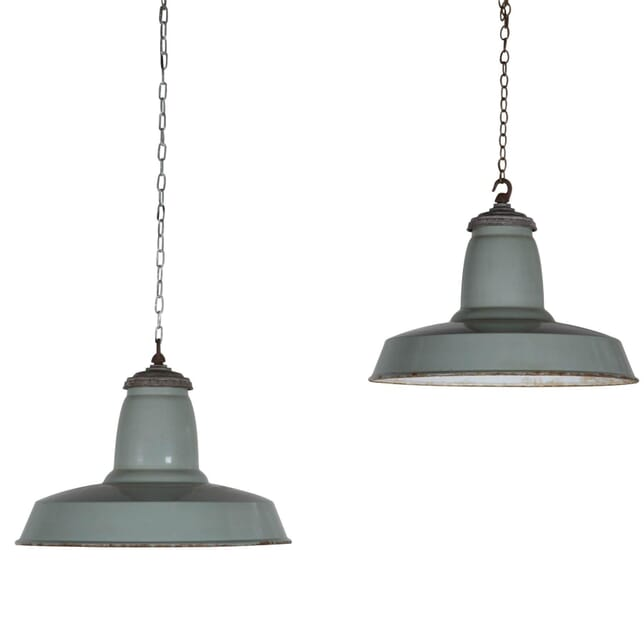 1950s Industrial French Pendants LC203434