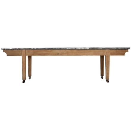1920s Oak Table with Zinc Top TC238222