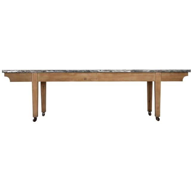 1920s Oak Table with Zinc Top TC238222