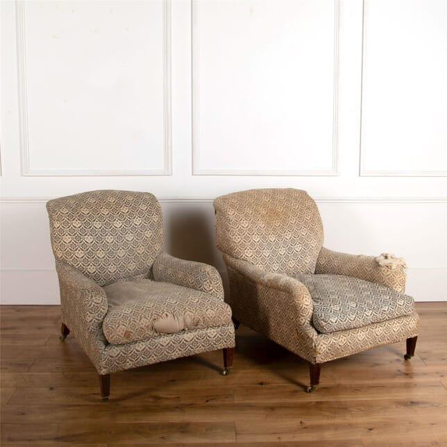Pair of Edwardian Howard Grafton Armchairs CH107240