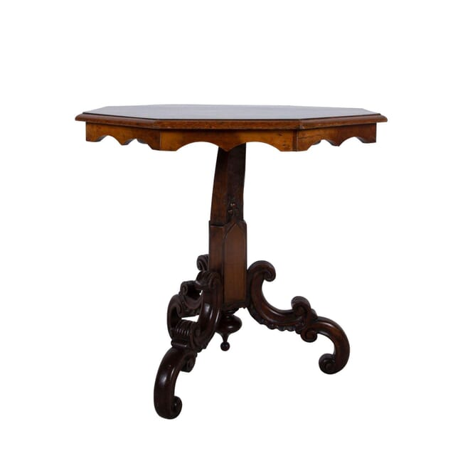 19th Century Inlay Italian Pedestal Table TC2860819