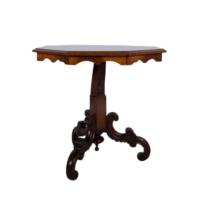 19th Century Inlay Italian Pedestal Table TC2860819