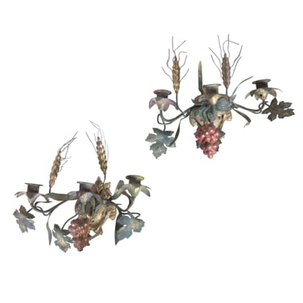 Pair Of French Grape Vine Appliques LW1556489