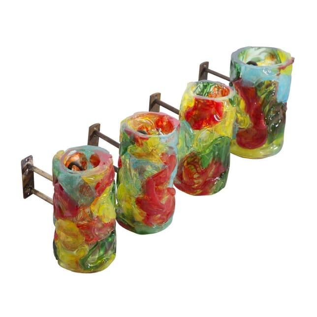 Murano Art Glass Wall Sconces c.1970 LW9058186