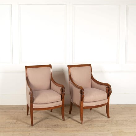 Pair of French Fruitwood Bergere Armchairs CH397387