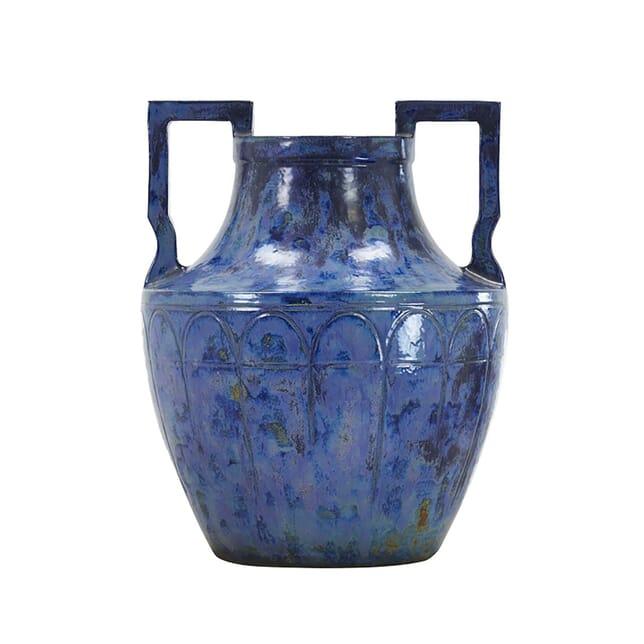 Large 1960s French Blue Glazed Urn DA0661422