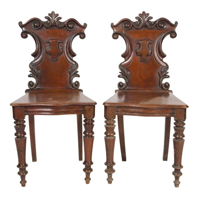 Pair of Mahogany Hall Chairs CH5558000