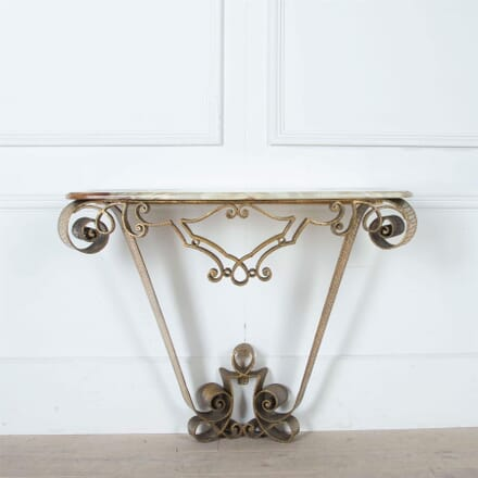 Gilded Iron Console by Pier Luigi Colli CO3061115