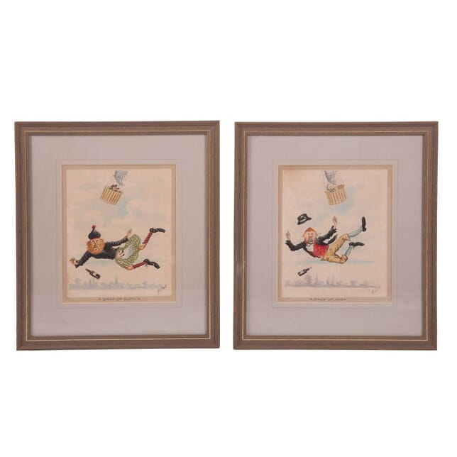 Pair of A C Bell Cartoons WD2859597