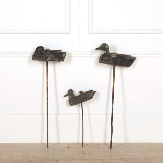 Collection of wooden decoy ducks DA607660