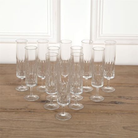Six French Crystal Champagne Flutes DA5862036