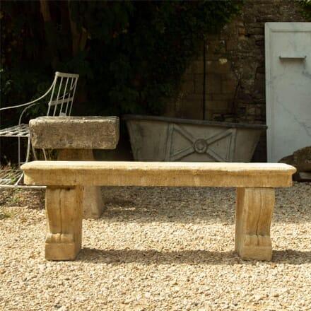 Carved Limestone Bench GA1962567