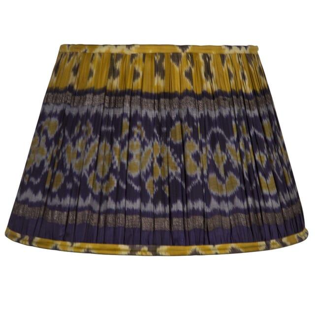 45cm Navy & Yellow Silk Lampshade LS6659421