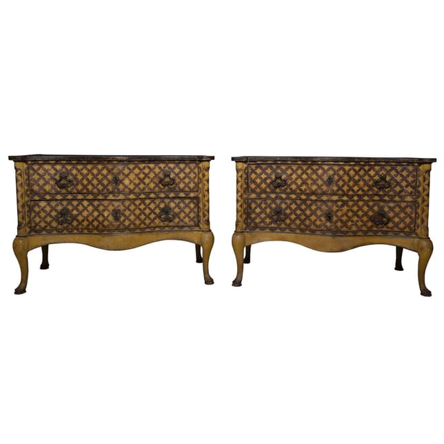 Pair of 19th Century Italian Painted Commodes CC5355954