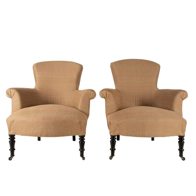 Pair of French Spoon Back Armchairs CH6360749