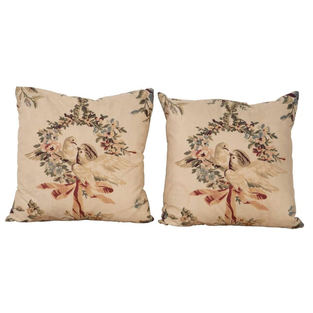 Pair of Kissing Doves Cushions RT1560397