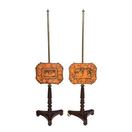 Pair of Regency Pole Screens DA5556045