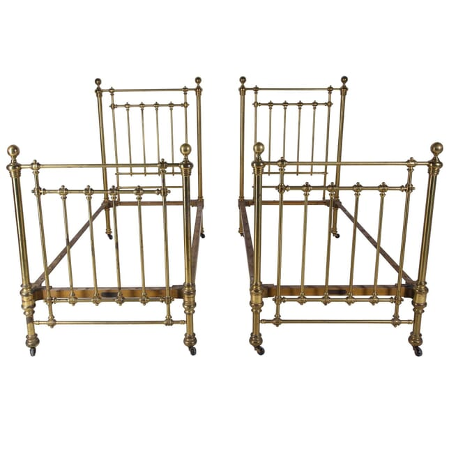 Pair of 19th Century Brass Beds OF239257