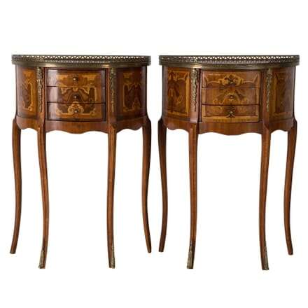Pair of Marquetry Side Tables BD1559463