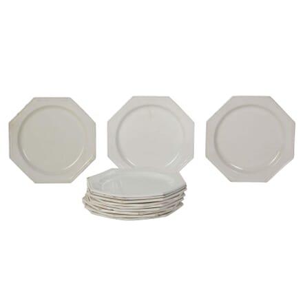 19th Century Hexagonal Creamware Side Plates DA0110321