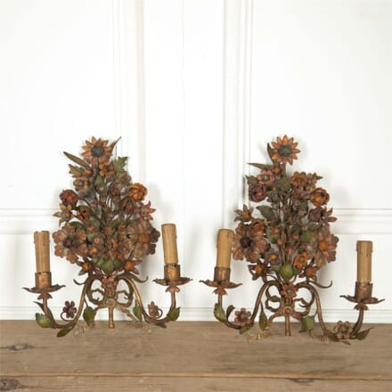 Pair of 19th Century Flower Wall Lights LW607651
