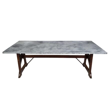 19th Century Zinc Top Refectory Table TD4355096