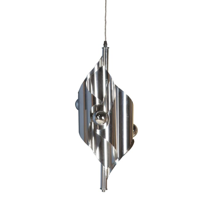 Pair of Chrome Hanging Lights LC3757055