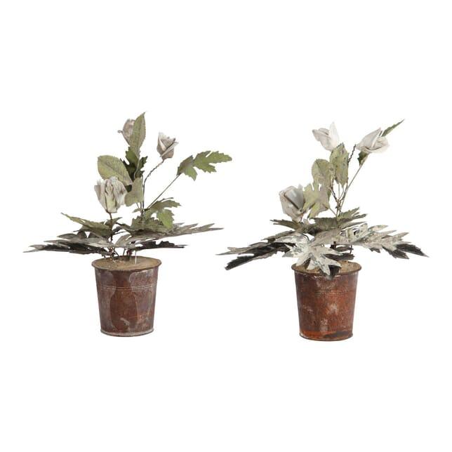 Tole and Porcelain Potted Plants DA150183