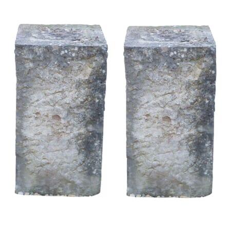 Pair of Stone Wine Barrel Supports GA1955884