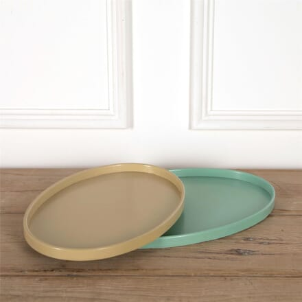 Pair of 1930s Nesting Oval Laquered Serving Trays DA5862052