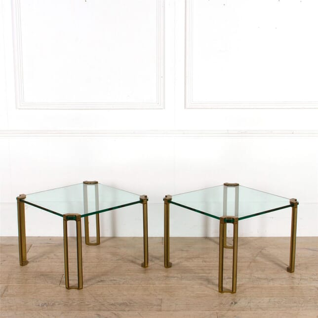 Pair of Brass and Glass Tables by Peter Ghyczy CO307531