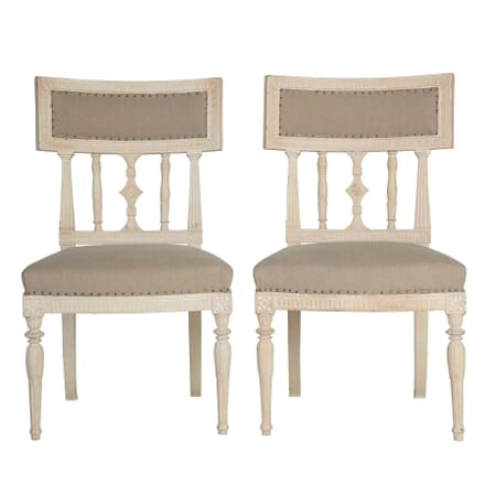 Pair of 18th Century Gustavian Painted Chairs CH5112814