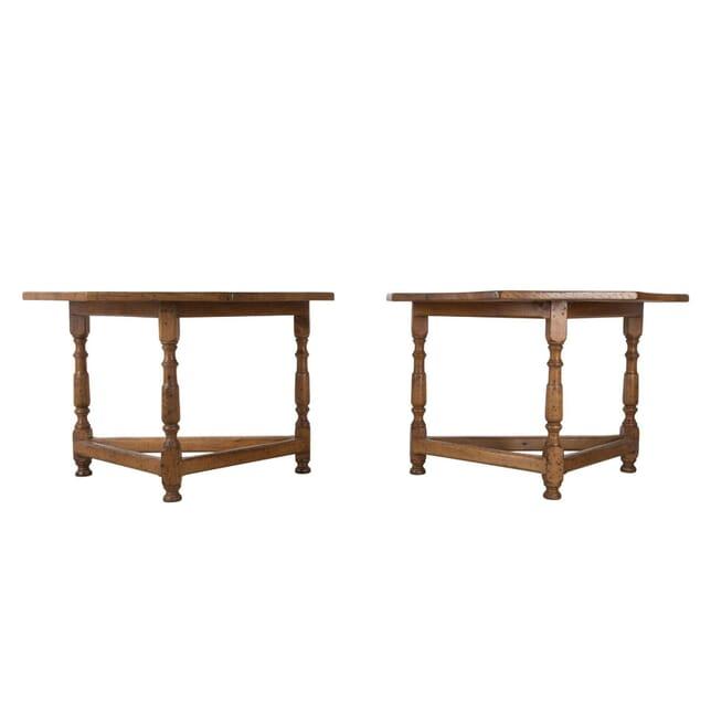Pair Oak Console Tables CO5260685
