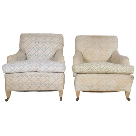 Matched Pair of Mid 20th Century Portman Armchairs  - CH2360065