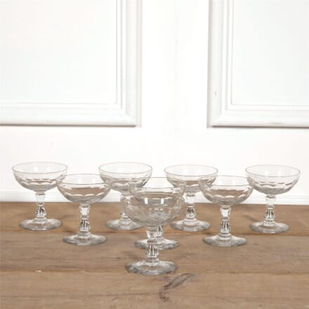 Eight Crystal Champagne Coupes DA1561866