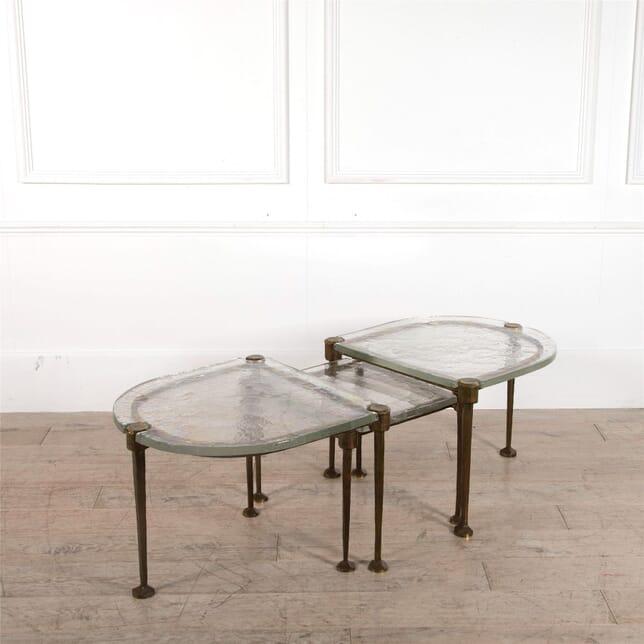 Rare Set of Three Brutalist Coffe Tables CT1162282