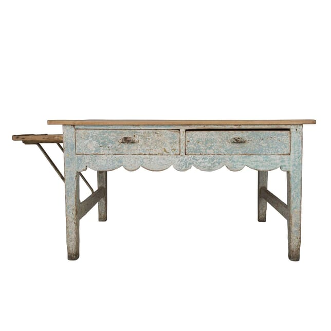19th Century Original Painted Pine and Sycamore Topped Bakers Table TS0960430
