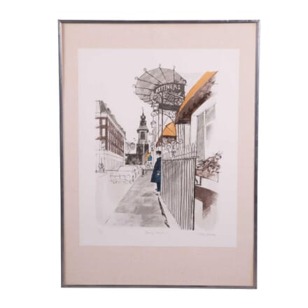 """""""Romilly Street"""" Lithograph by Albany Wiseman WD6858535"""